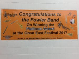 Fowler Great East Banner - 2017 - Platinum